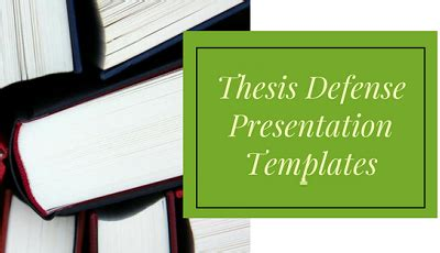 How to make thesis defense presentation